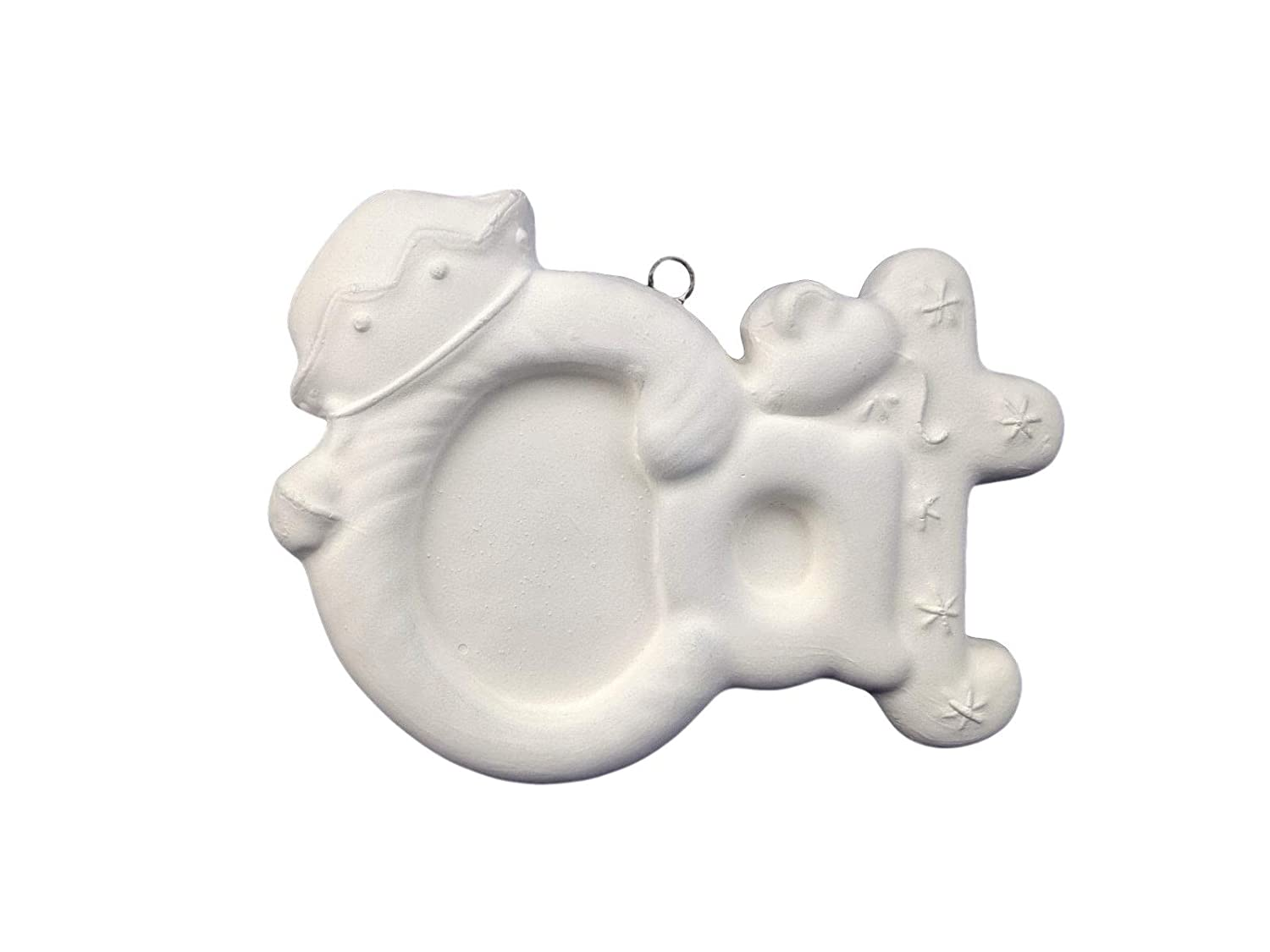 Cat Word Christmas Ornament Ready to Paint Ceramic Bisque Handmade in The USA
