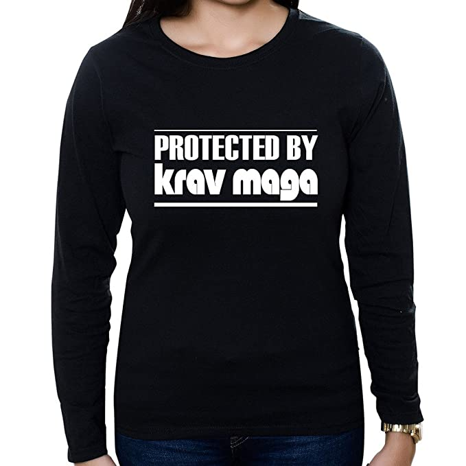 2d14c0aa92f2 Custom Brother - Protected by Krav MAGA Women s Long Sleeve Shirt at ...