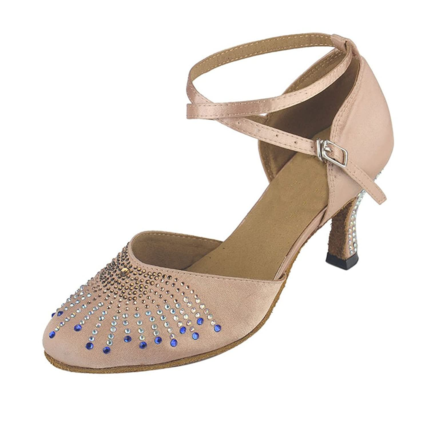 Oncefirst Women Sparkly Latin Salsa Performance Dance Shoes Ballroom Dancing Shoes