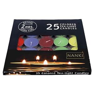 Nanki Trades Round Wax Tea Light Candle (3.5 cm x 3.5 cm x 1 cm, Set of 25)