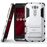 Heartly Asus Zenfone 2 Laser ZE601KL Back Cover Graphic Kickstand Hard Dual Rugged Armor Hybrid Bumper Case - Champagne Silver