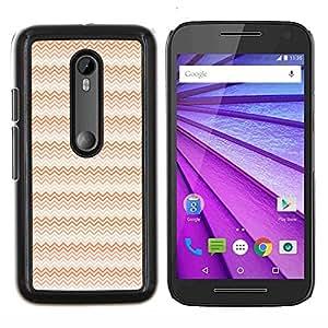"""Be-Star Único Patrón Plástico Duro Fundas Cover Cubre Hard Case Cover Para Motorola Moto G (3rd gen) / G3 ( Ondas del rosa rojo del arte del papel pintado Diseño Aleatorio"""" )"""