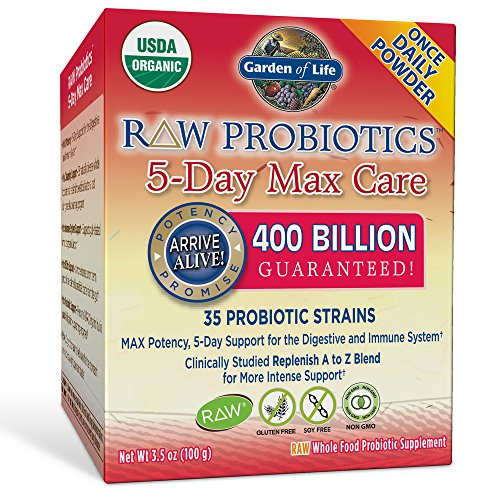 Garden of life raw probiotics 5 day max care 34 for Garden of life raw probiotics review