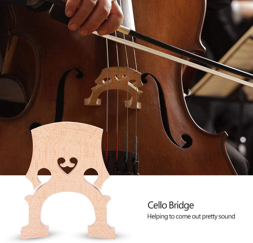 4//4 Cello Bridge Maple Professional Cello Bridge Self-Adjusting Fitted Bridge Musical Instrument Accessory for Cello