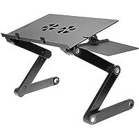 Mesa Stand Laptop Original Plegable Ventilador Aluminio Mousepad T8 Multi Usos Oferta Super Precio Soporte ajustable…
