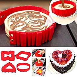 Kicode 4 Pcs Silicone Cake Mold Magic Cake Mould Food Grade Silicone Diy All Kinds Cake