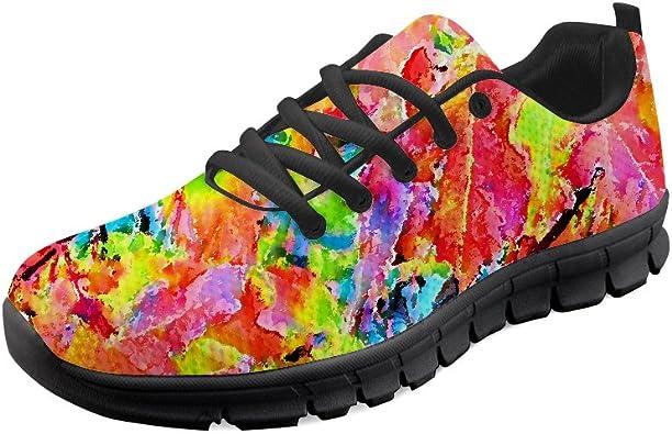 Gopumchy - Zapatillas de Running para Mujer, Color Negro, Suela ...
