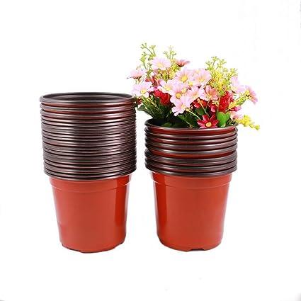 225 & TRUEDAYS 6 Inch Plastic Flower Seedlings Nursery Supplies Planter Pot/pots Containers40 Pack