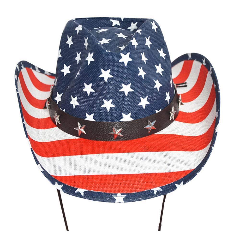 American Flag Cowboy Hat for Men Women Classic Jazz Hat Sunhat