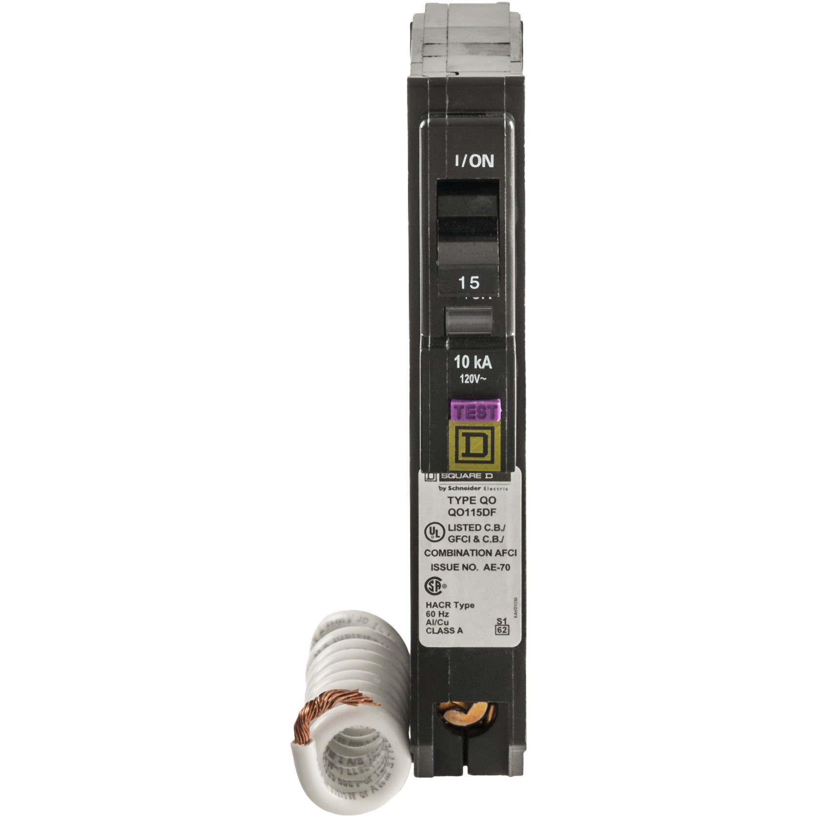 Square D by Schneider Electric QO 15 Amp Single-Pole Dual Function (CAFCI and GFCI) Circuit Breaker