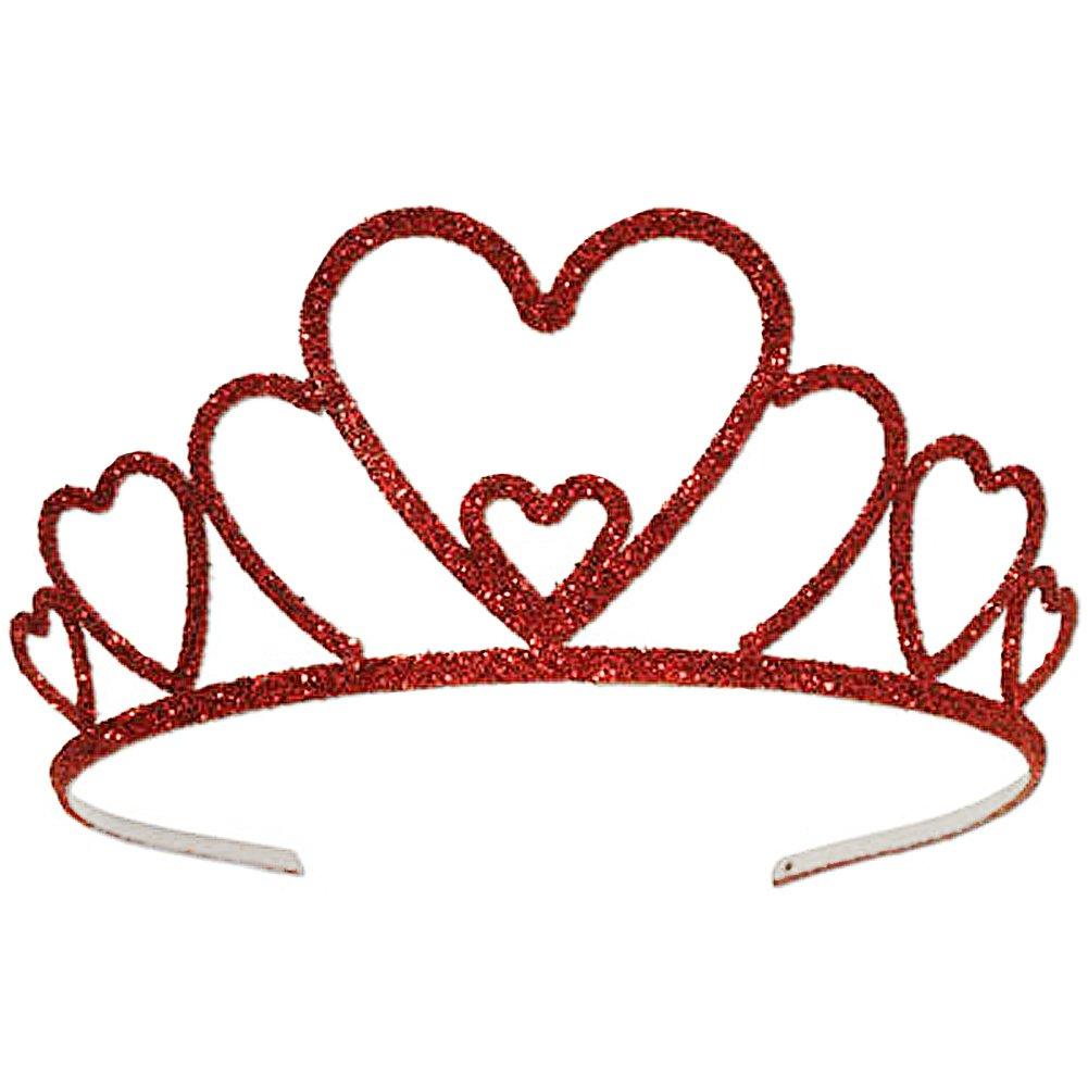 Queen of Hearts Red Heart Tiara Crown - DeluxeAdultCostumes.com