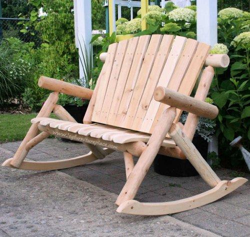 Contoured Comfort Log Rocking Love Seat ()