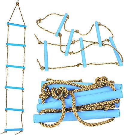 NUB Escalera de Cuerda de Escalada para niños en Interiores y Exteriores,Azul: Amazon.es: Hogar