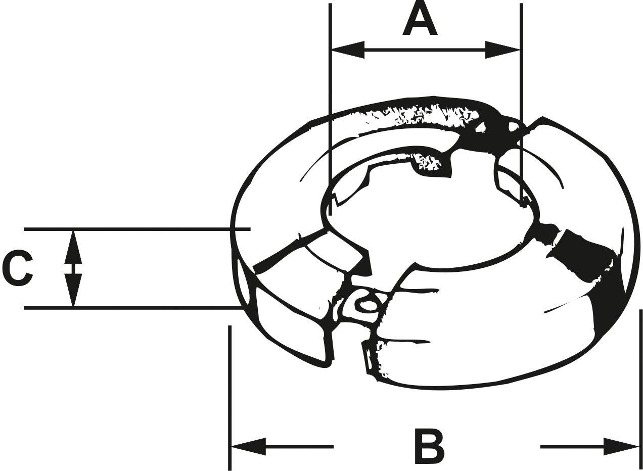 Cornat Scharnierrosette 3//4 Zoll chrom TEC317027