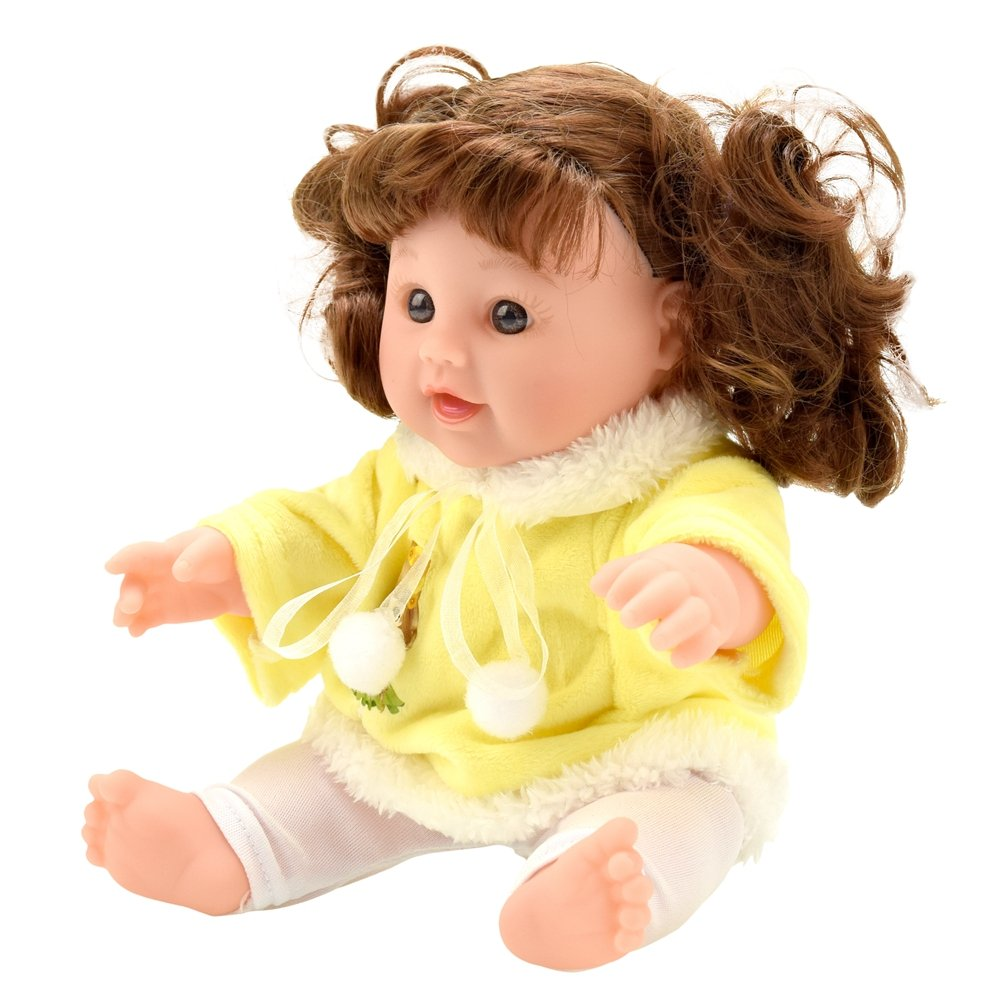 TUSALMO 12 inch Vinyl Newborn Baby Dolls for Childrens and Granddaughters Holiday Birthday Pink Lifelike Reborn Washable Silicone Doll.