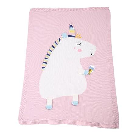 MagiDeal 2 Piezas de Bebé Unicorn Manta Baño Easy Wrap Dormir ...