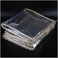 Dekzeil Waterdicht Heavy Duty,Transparant Afdekzeil Met gaten,0.3mm 420 G/m²,scheurbestendig Zeildoek 0.8x1m
