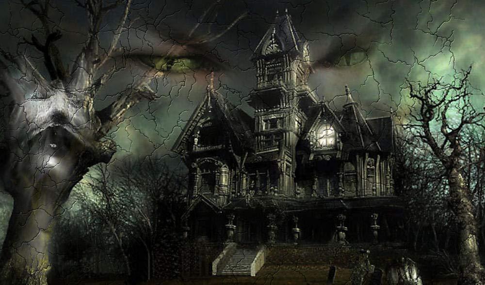 OKOUNOKO Pintura Por Conjunto Digital, Castillo Sombrío De Terror ...