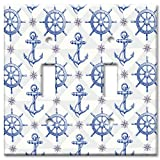 nautical wall covers - Art Plates brand - Double Gang Toggle Switch / Wall Plate - Nautical