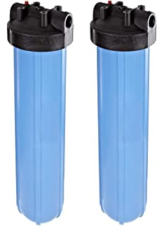 Home Appliance Parts 20x4.5 Big Blue Whole House Housing Tank Water Filter 1 Brass Port Include Wrench