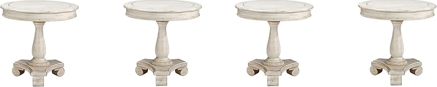 Signature Design by Ashley Mirimyn End Cottage Style Accent Table-Chipped White (Pack of 4)