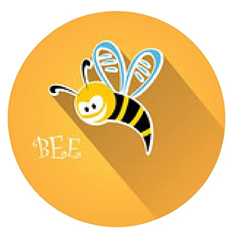 alfombrilla de ratón dibujo animado lindo de la abeja del bebé brillante en el fondo de
