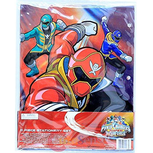 Qiyun Power Rangers Super Megaforce School Stationary Set 11pc Value - Folder Ranger