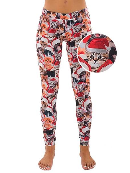 womens christmas cat leggings holiday pants x small