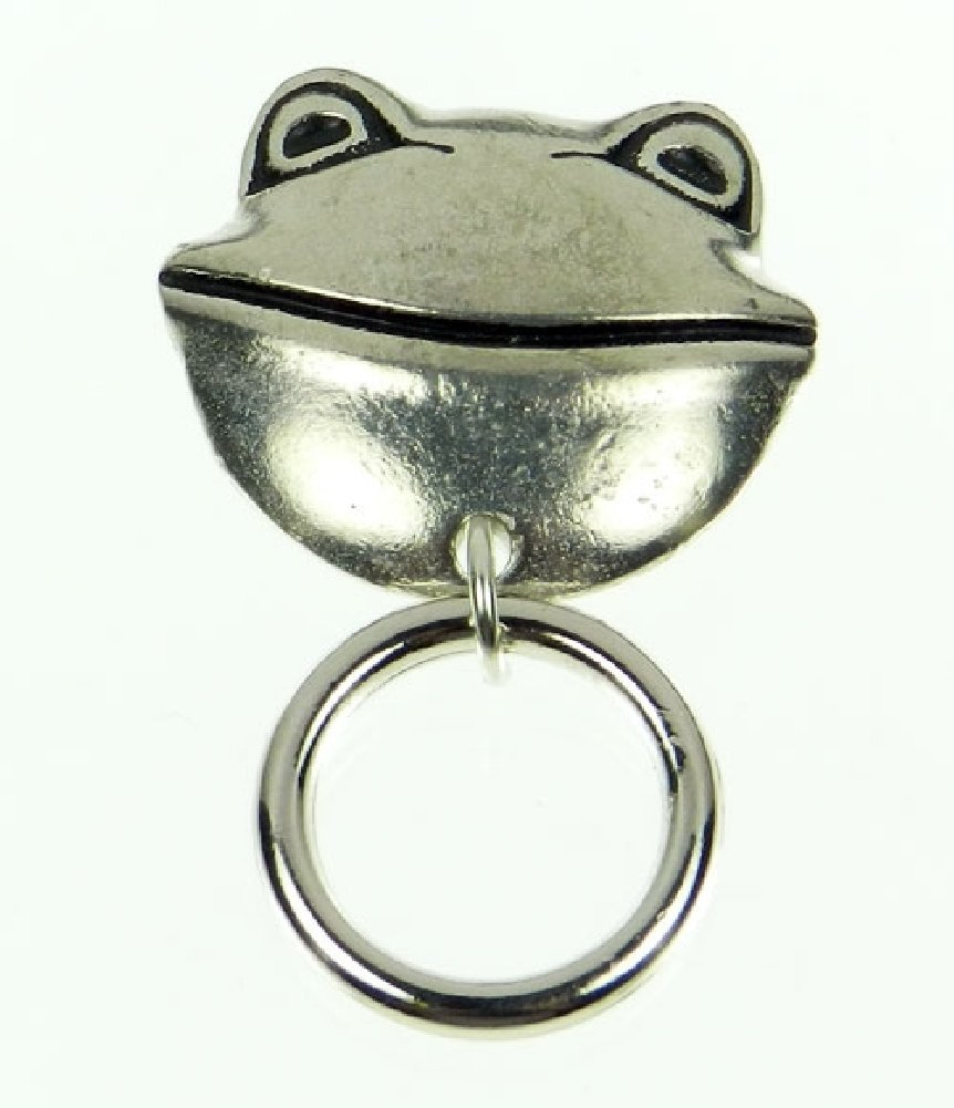 Silver Tone Magnetic Eyeglass Pin The Smart Pin Smiling Frog