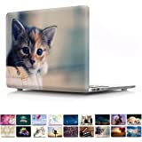 PapyHall Newest 2 in 1 Color Printing Plastic Shell Cover for 2017/2016/2015 Version MacBook 12 inch with Retina Display A1534 Kitten