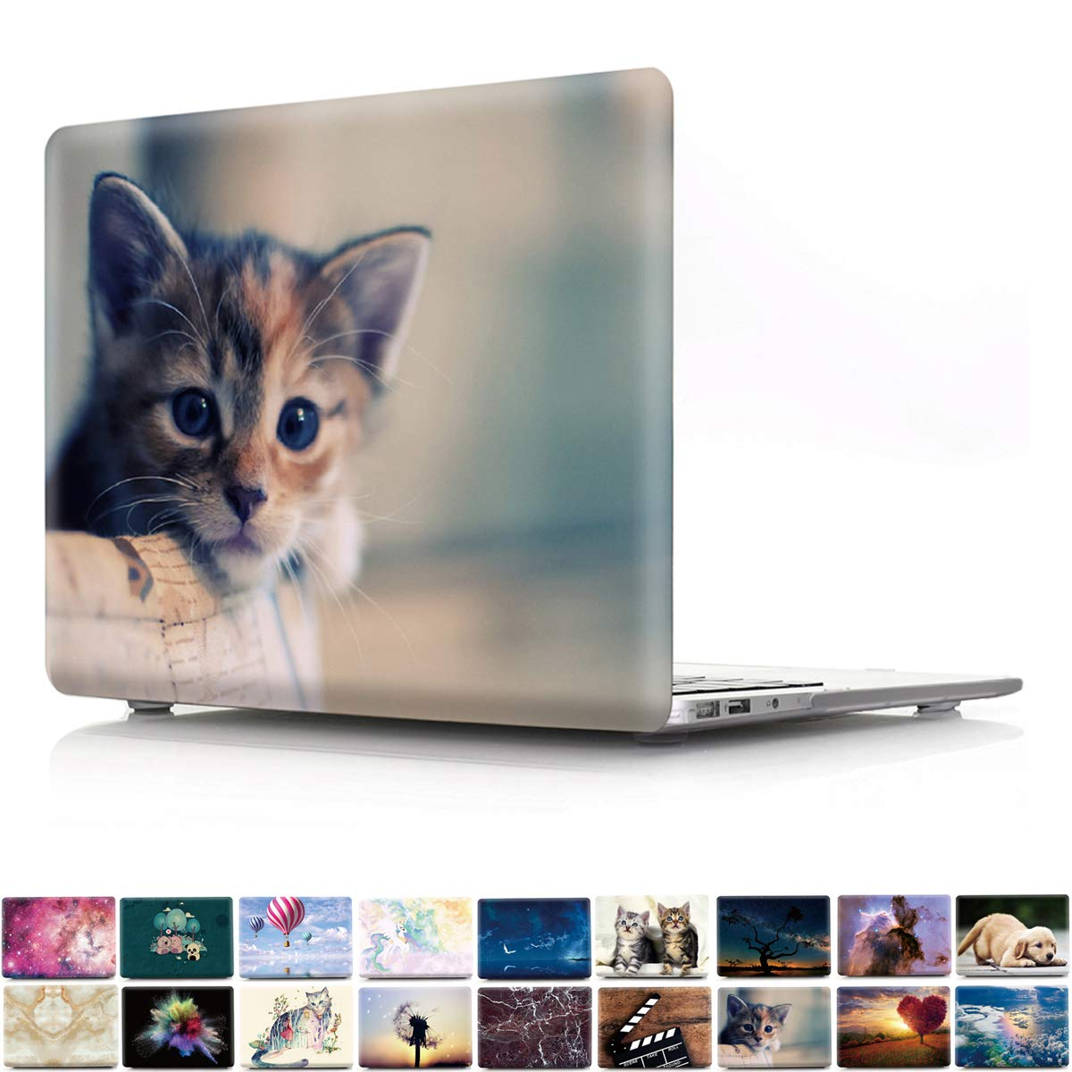 PapyHall Newest 2 in 1 Color Printing Plastic Shell Cover for 2010-2012 Release MacBook Pro 15 inch with CD-ROM (Non-Retina) Model: A1286 Kitten