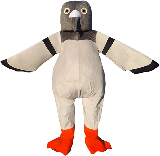 cartoon mascot Pigeon, Paloma, Pájaro de la Paz Mascota Disfraz de ...