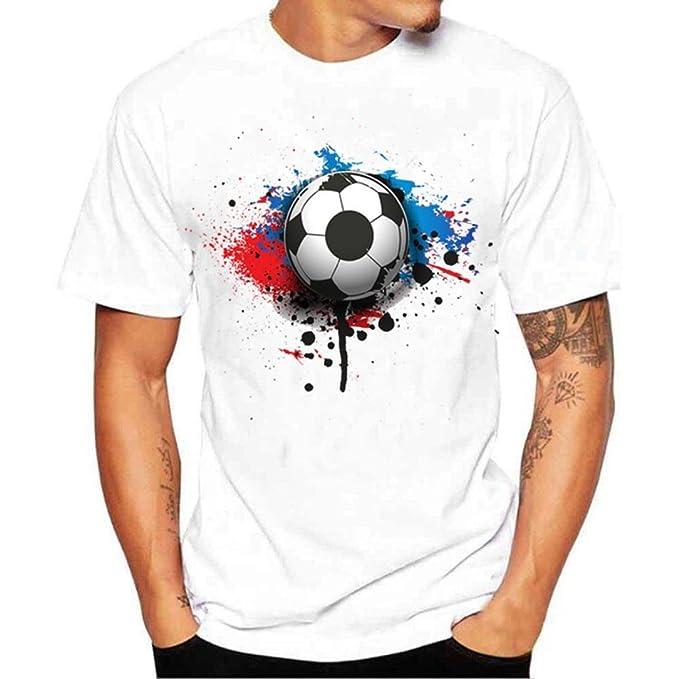 FNKDOR Camiseta de fútbol con Estampado de Hombres, 2018 Camiseta con Camisetas de fútbol Mundial