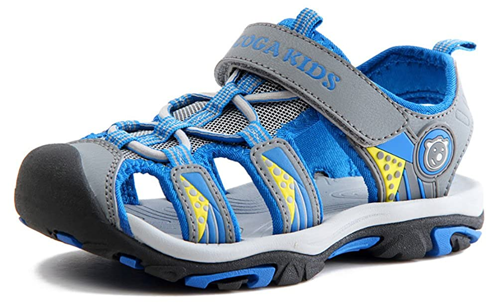 XKT03 Toddler//Little Kid//Big Kid Poppin Kicks Boys /& Girls Quick Dry Closed Toe Water Sandals