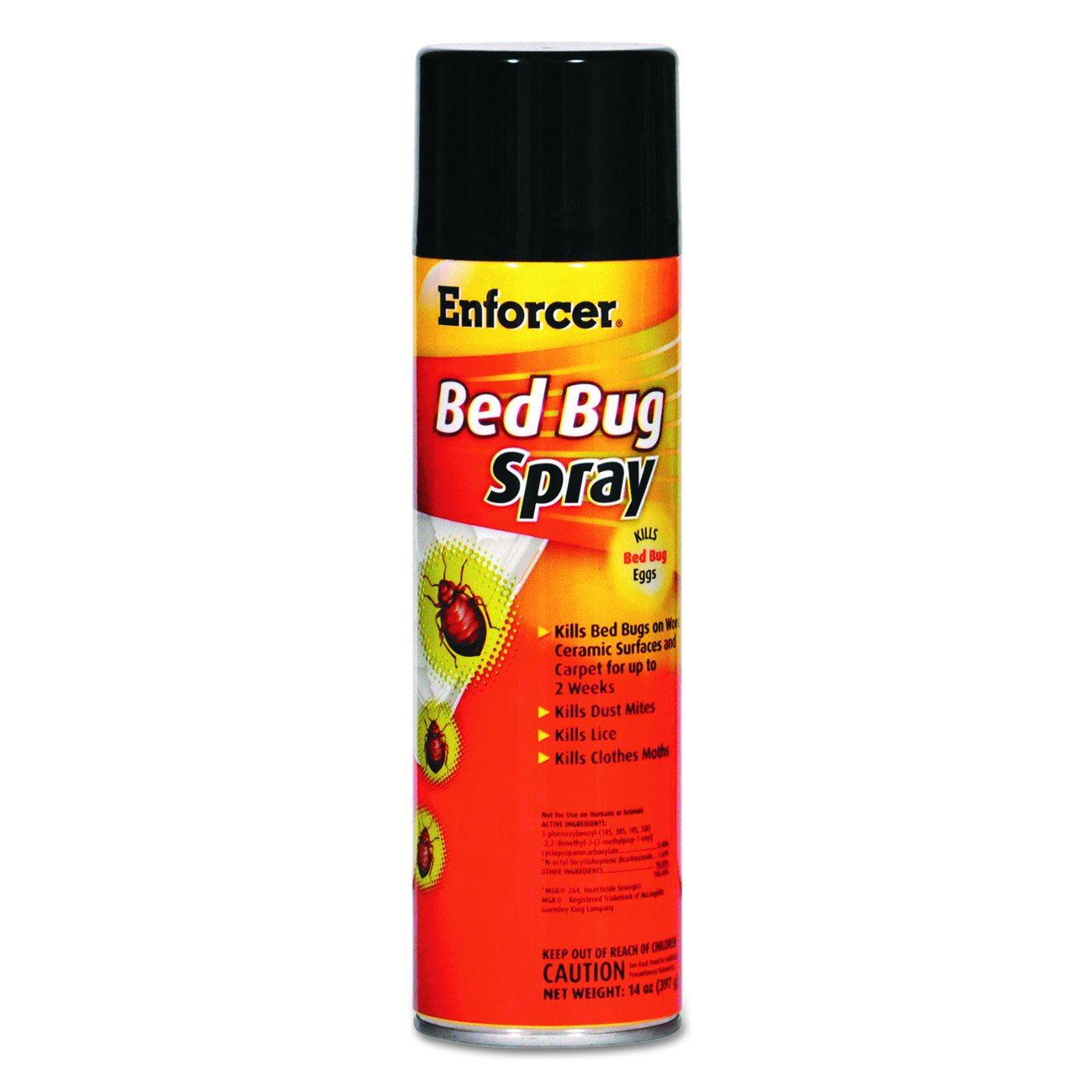 Enforcer 1043287 Bed Bug Spray for Bed BUGS/Dust Mites/Lice/Moths, 14 oz Aerosol, 14 Ounces, 1'' Height, 1'' width (Pack of 12) by Enforcer (Image #3)