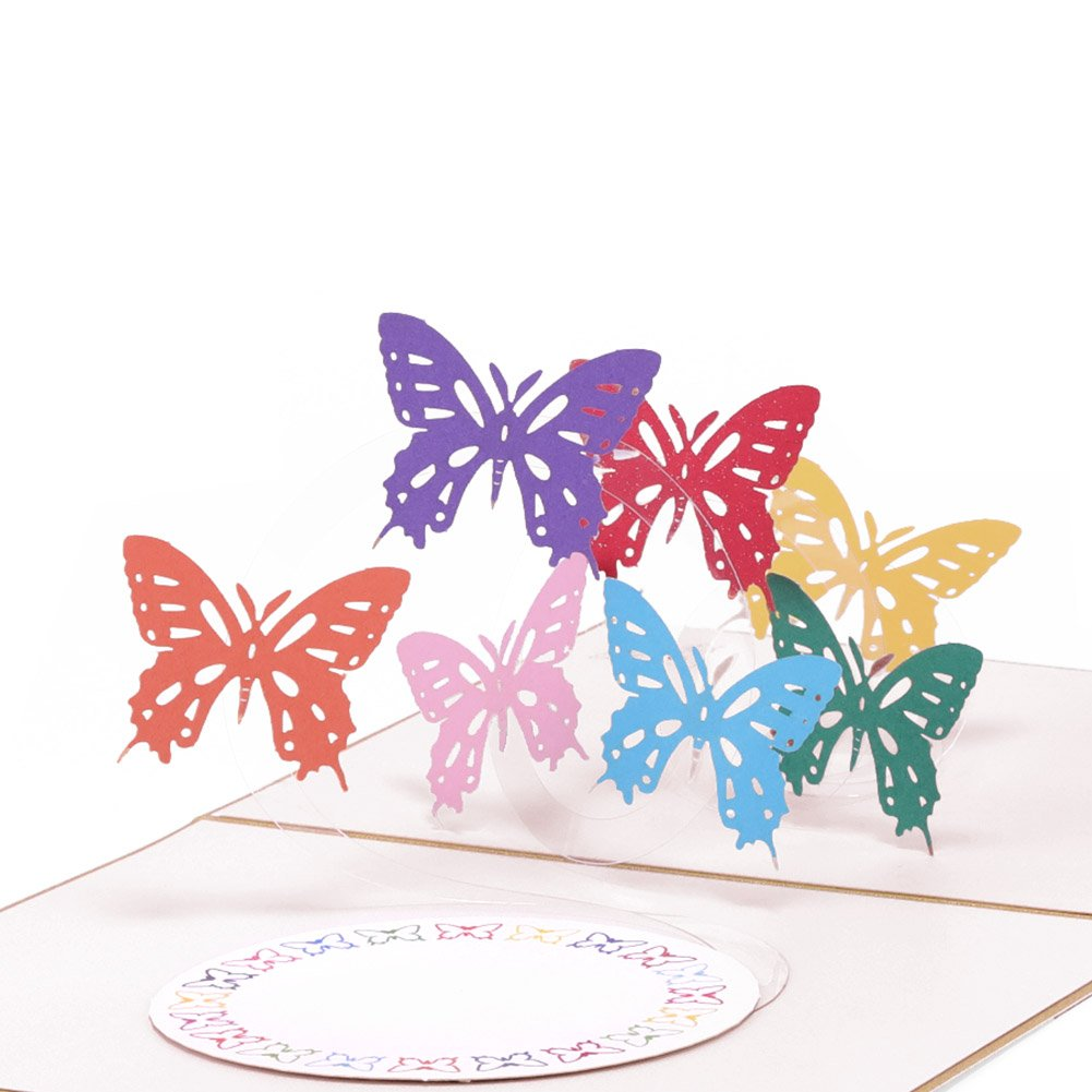 Paper spiritz rainbow butterfly pop up birthday card wedding paper spiritz rainbow butterfly pop up birthday card wedding christmas anniversary laser cut 3d pop up m4hsunfo