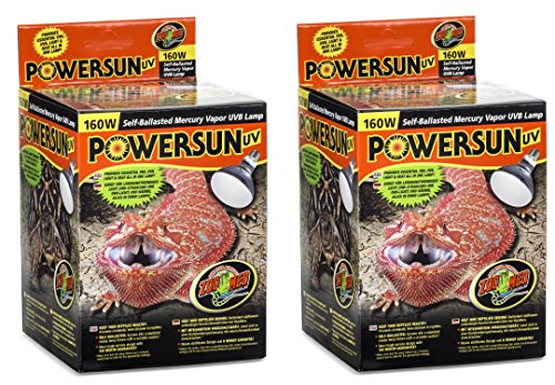 Zoo Med PowerSun UV Mercury Vapor Lamps 160 Watts (2 Pack) by Zoo Med