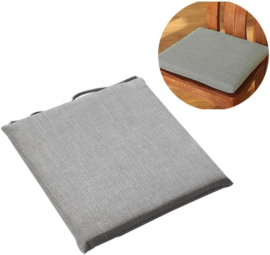 Chair Pad Cotton 16 x 16 Set of 4 Seat Cushion Comfortable Indoor Dining Living Room Durable Fabric Beige