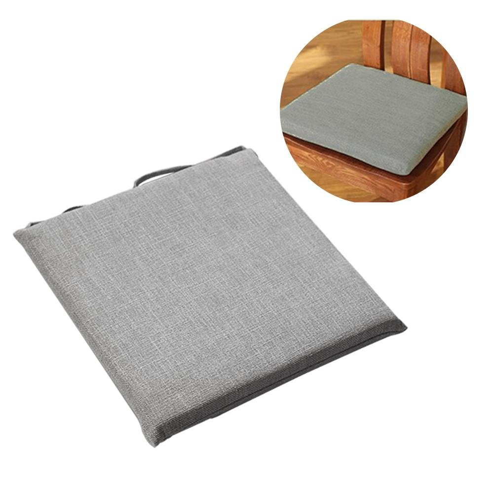 45 * 45 linen upholstery Japanese cushion cotton cushion tatami cushion office cushion student cushion chair cushion yoga mat window cushion, suitable for your home, car and office chair Beatie