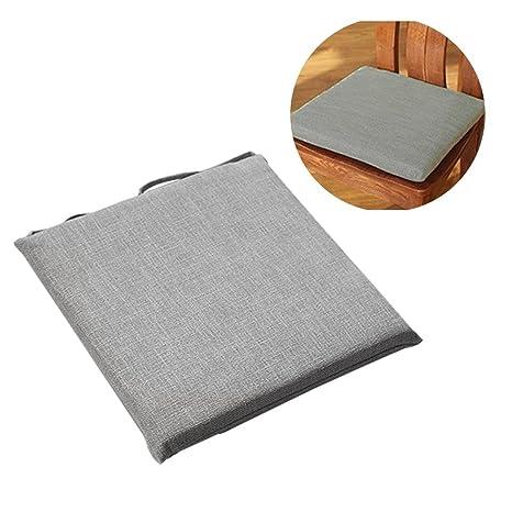 Cojín de silla Tatami cojín 45 x 45 cm, desenfundable transpirable cojín japonés algodón y lino Hyper excelente cojín de asiento con ventilación ideal ...