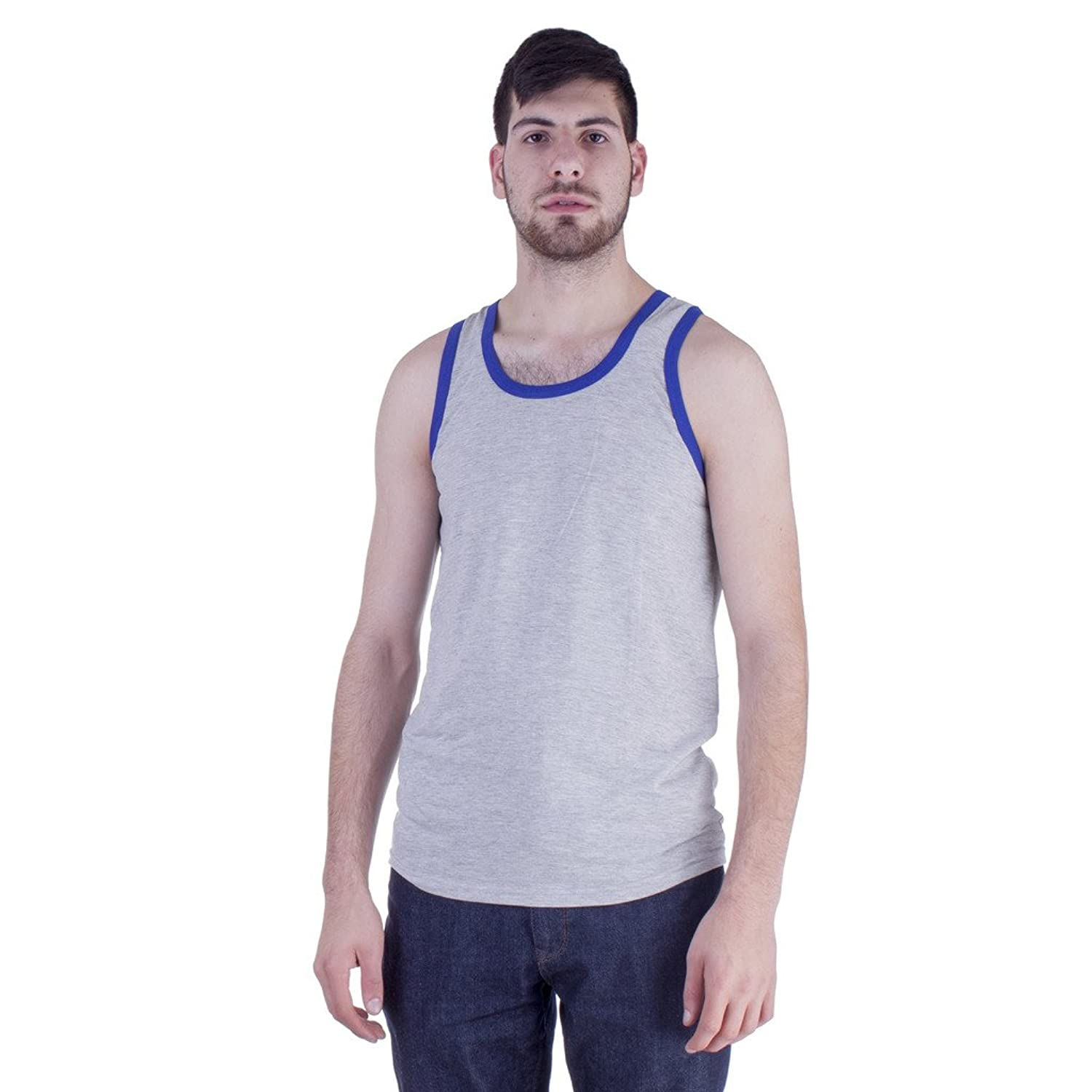 c6cd92387 Amazon.com  Mens Cheap Beach Tank Top - Sleeveless Gym Muscle Fit T Shirt  For Guys  Clothing