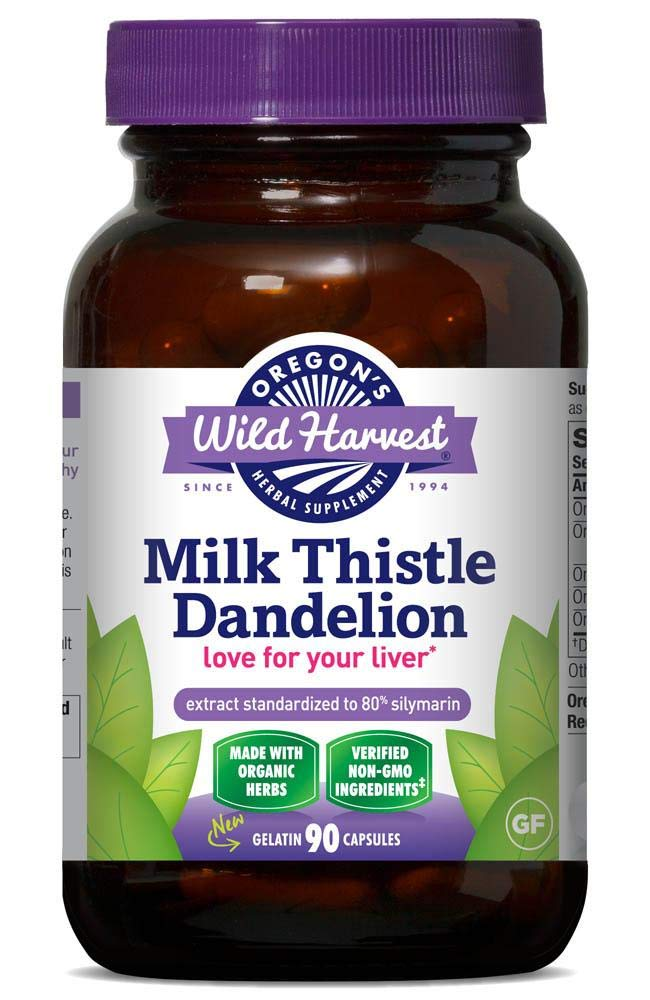 3 PACK Organic Milk Thistle Dandelion 90 caps