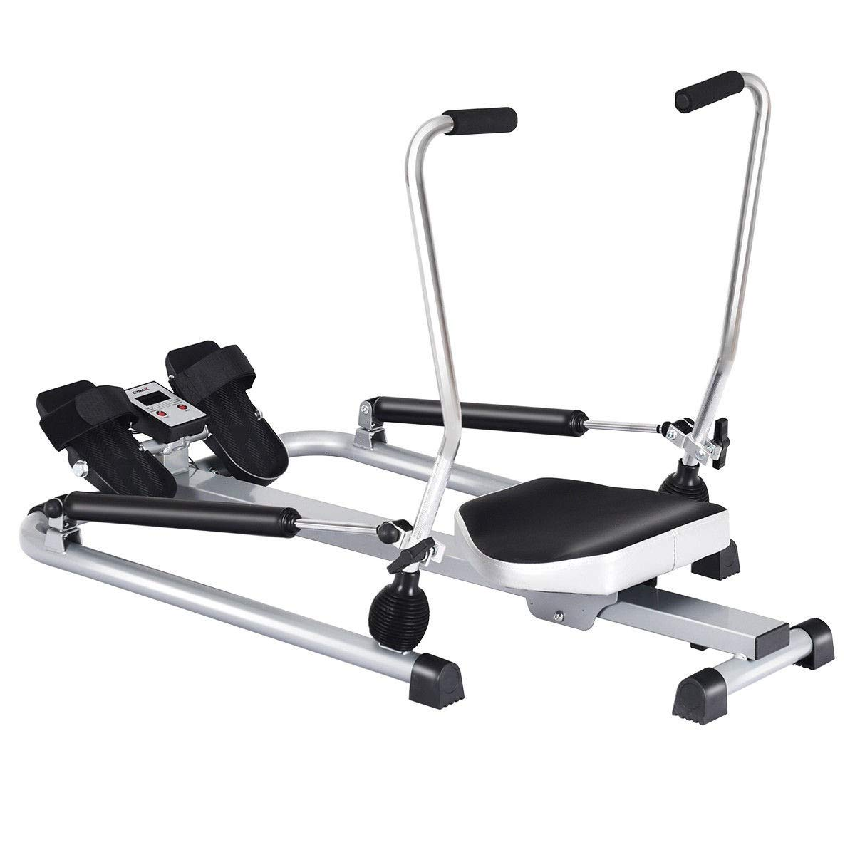 MUVR lab Exercise Adjustable Double Hydraulic Resistance Rowing Machine