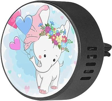 Lindo bebé elefante globo 2 Piezas Difusor de coche Vent Clip Clip ...