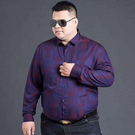 WYTX Camisas Camisa De Manga Larga Grande para Hombre Más Camisa Gruesa XL para Jóvenes Suelta Camisa Básica De Primavera Y Otoño: Amazon.es: Deportes y aire libre