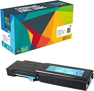 Do it Wiser Compatible Toner Cartridge Replacement for Dell C2660 C2660dn C2665dnf High Yield - (593-BBBT) Cyan