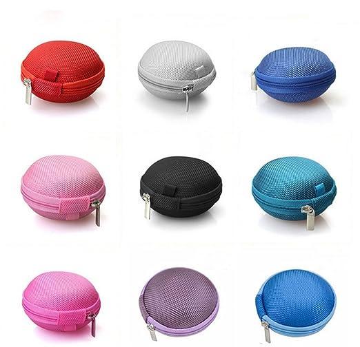 Dosige Bolsa de Almacenamiento de Auriculares,Monedero Redondo pequeño,Caja de Almacenamiento,Escombros para Auriculares intrauditivos Collar Size 8 * ...