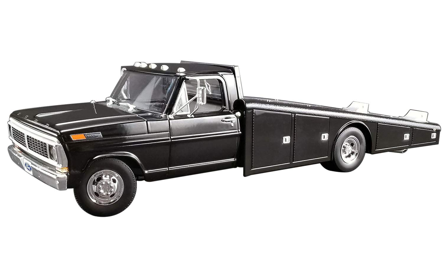 1970 Ford F-350 Ramp Truck Black Limited Edition to 1,148 Pieces Worldwide 1/18 Diecast Model Car by Acme A1801400