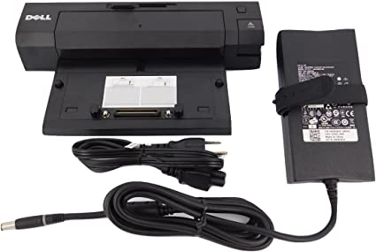 Dell Genuine Docking Station E-Port Plus PR02X with PA-4E 130W Adapter.