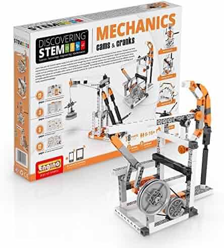 Engino Discovering STEM Mechanics Cams & Cranks Construction Kit